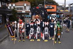 麻績神社と獅子舞(飯田市座光寺)