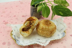 ホットケーキミックスで作るカレーパン(牛肉のトマトカレー)