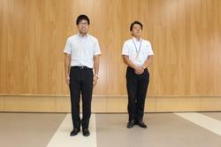 激励会で挨拶する三村さん(右)と今村さん(左)