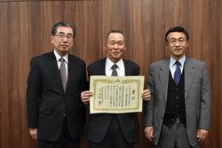 表彰を受ける熊谷代表