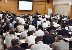 大勢の会員が集まった支所運営委員会説明会