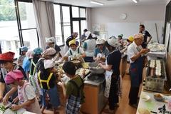 JA女性部喬木支部主催、夏休み親子料理教室